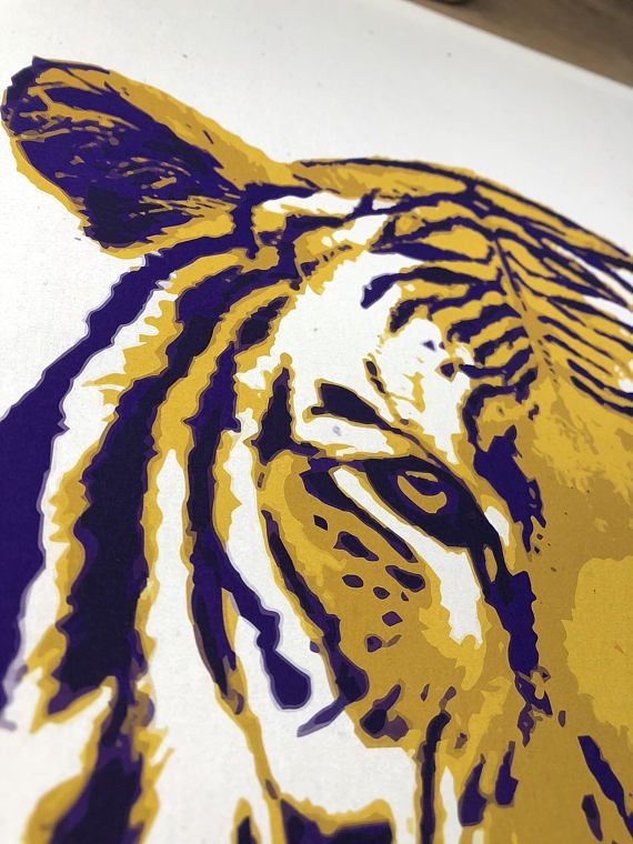 LSU Gift, Graduation Gift for Men, LSU Wall Art, LSU Prints, Tiger Print, Father's Day Gifts, Baton Rouge Art, lsu decor, lsu tigers art | Pinterest | Tiger ...