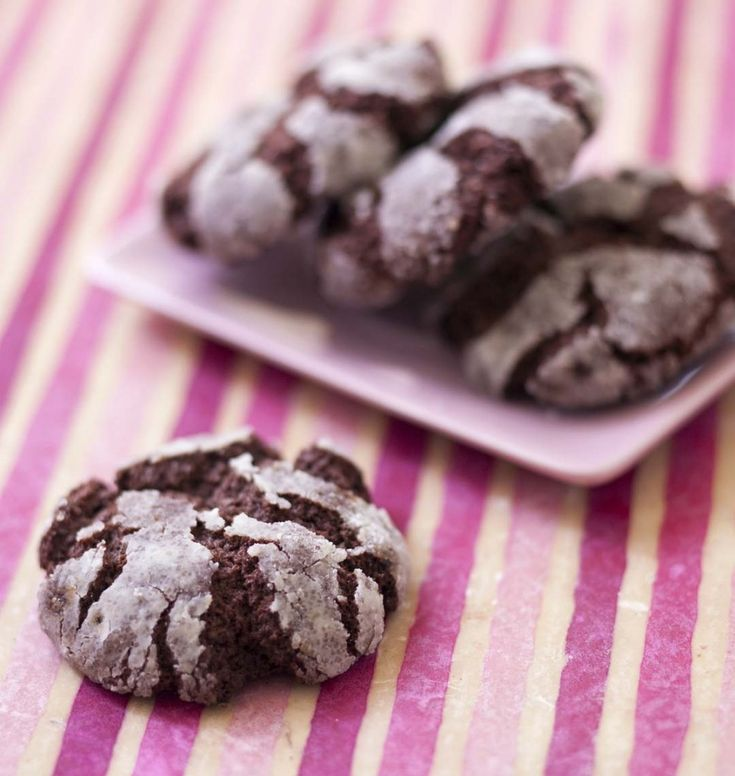 Biscuits craquelés au chocolat de Martha Stewart - les meilleures recettes de cuisine d'Ôdélices