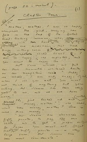 """Original manuscript of Chapter 4 of Oscar Wilde's """"The Picture of Dorian Gray"""""""