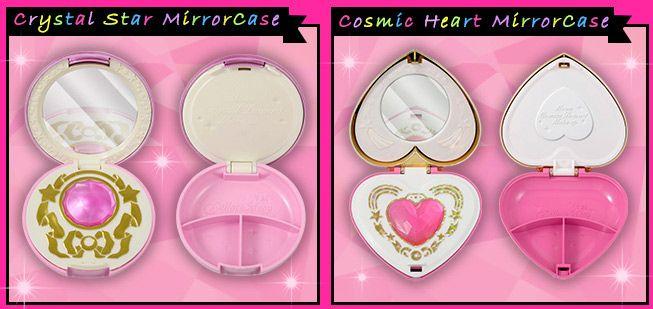 "Sailor Moon ""Moonlight Memory"" series, featuring the Crystal Star and Cosmic Heart henshin compacts!"