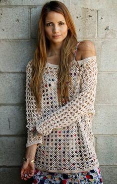 How to Crochet Your Own Heirloom Boho Sweater - Free Chart... ༺✿ƬⱤღ http://www.pinterest.com/teretegui/✿༻