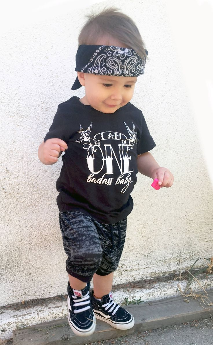 I Am One Badass Baby Tee First Birthday Outfit Punk Baby