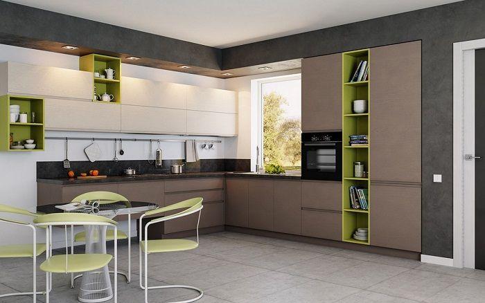 Красивый и очень интересный интерьер кухни, станет просто оптимальным решением.