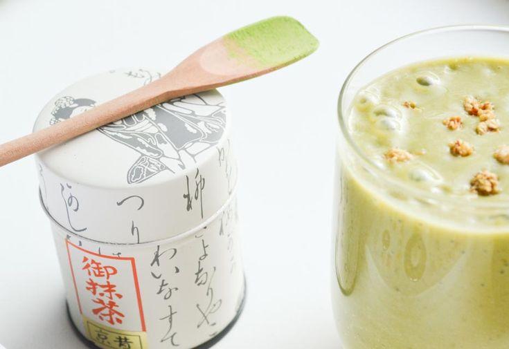 Matcha Smoothie met Avocado en Banaan - Blij Suikervrij
