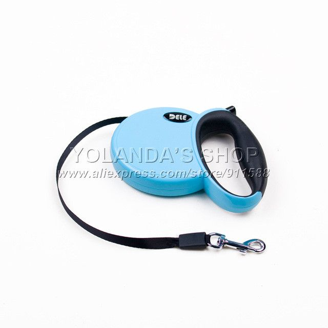 DELE Retractable Leash 3 Meters Flexible Dog Puppy Cat Lead Leashes Sport Collars New Automatic Traction Rope Pet Products