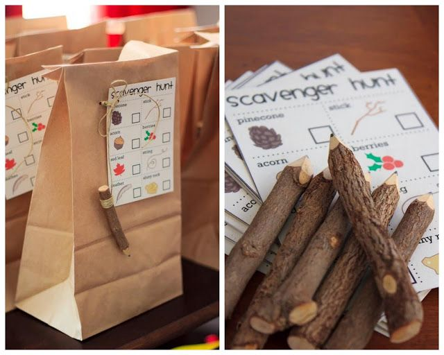 Great Outdoors Camp Party Scavenger Hunt Design For Any Age Group Even Adults The Fun Has