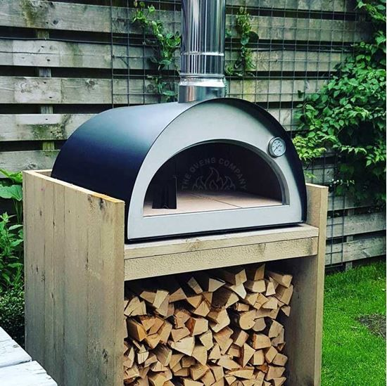 the oven is a portable wood fired
