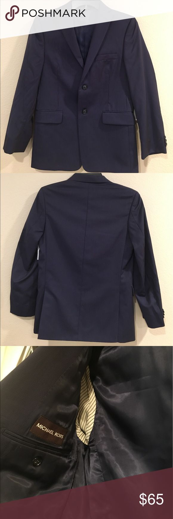 Michael Kors Navy Blazer!! Classic color Michael Kors Blazer!' 100% Wool. Michael Kors Jackets & Coats Blazers