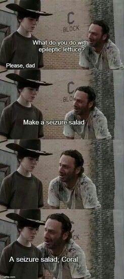 The Walking Dad memes. Seizure salad joke CORAL!