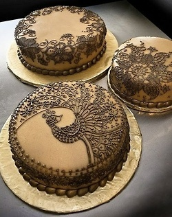 Mehndhi golden cake -  Look for the #Asianweddingcaterers we love in our online Asian wedding directory: http://www.yourdreamshaadi.co.uk. All the advice, inspiration and supplier contacts you need to plan your dream Asian wedding!