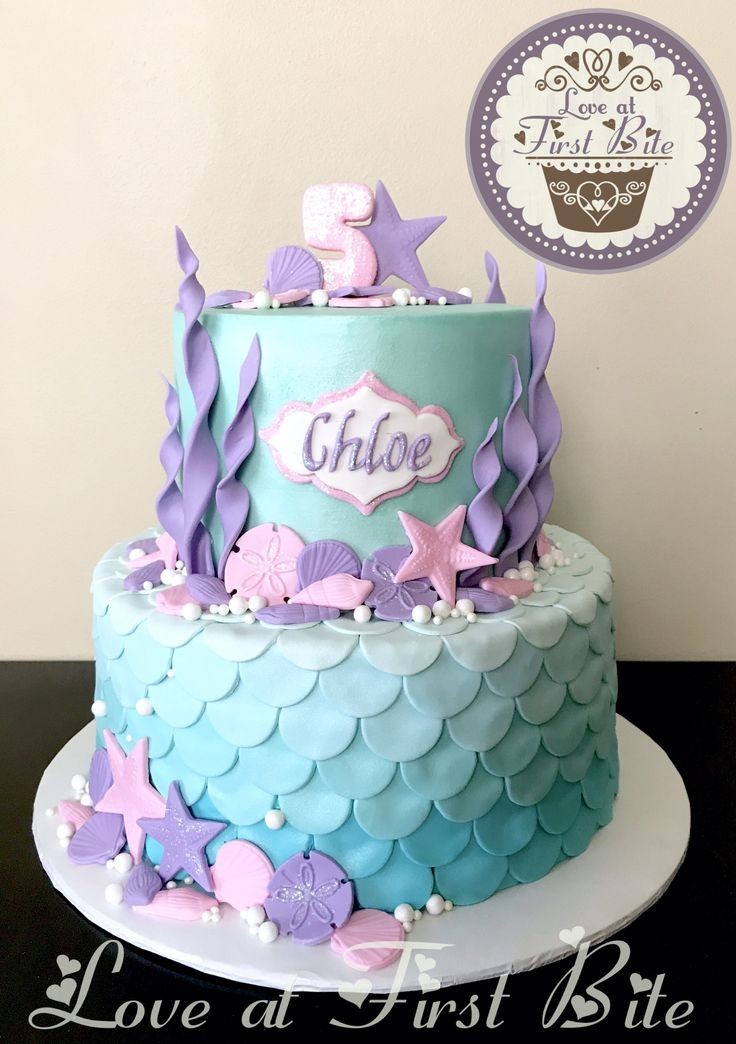 Under The Sea Mermaid Cake Mermaid Birthday Cakes