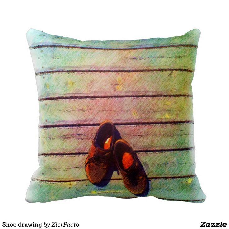 Shoe drawing pillows
