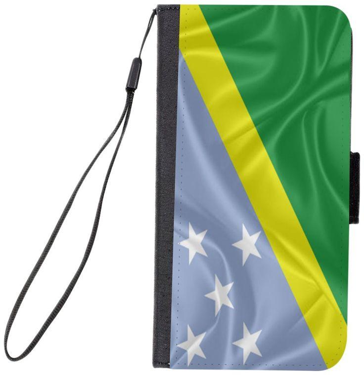 Rikki Knight Magnetic Clasp Closure Folio Case for Apple iPhone 7 Plus/ iPhone 8 Plus - Solomon Islands Flag