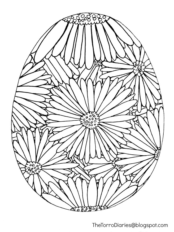 FREE Easter Egg Printable Coloring