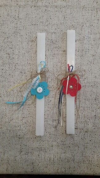 "Handmade easter candles by Glykeria. ""Flowers"""