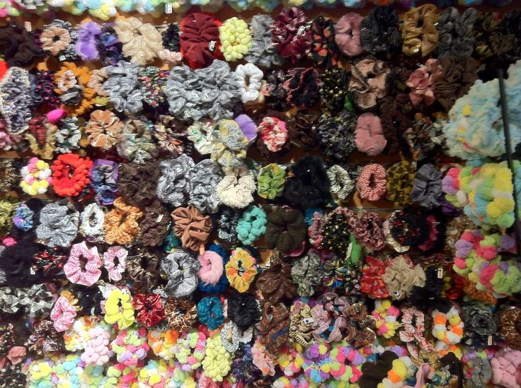 Wall Of Scrunchies Accessories Scrunchies Hair Ties
