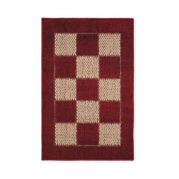 Best Nonslip Decorative Burgundy Checkered Area Rug Hallway 400 x 300