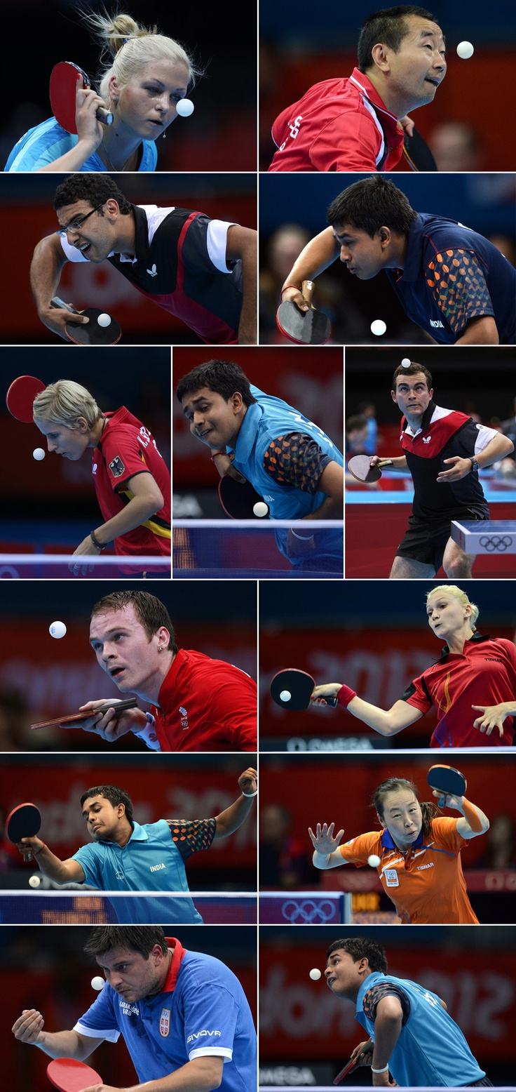 Faces of Olympic table tennis