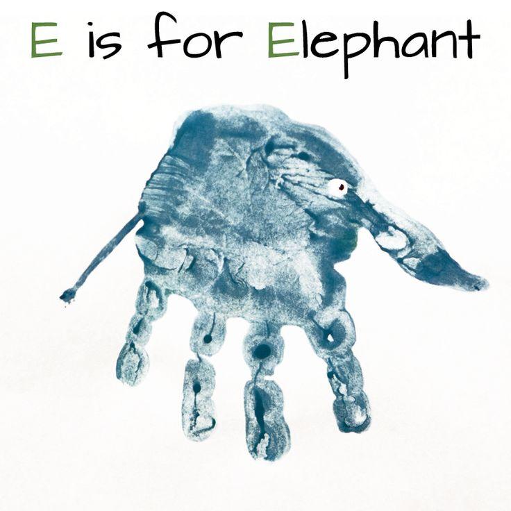 hand print art for every letter - Mommy Minutes: Alphabet Handprint Art