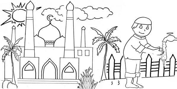 Download Gambar Mewarnai Anak Muslim Di 2020 Sketsa