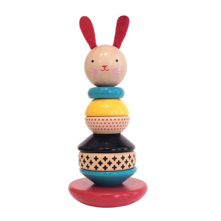 Modern Bunny Wooden Stacking Toy from Oompa Toys