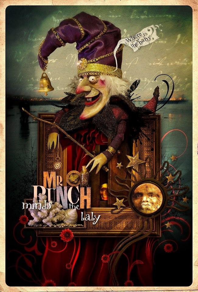 Next Performance - by Volcano Digital Art Entry for Mr Punch, the December photo-image competition on Luna.
