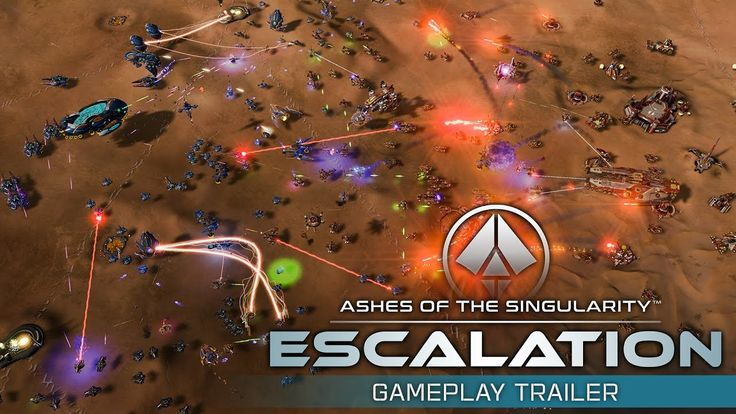 Ashes of the Singularity: Escalation Gameplay Trailer - YouTube | http://www.ashesofthesingularity.com http://store.steampowered.com/app/507490/  From the people who brought you Sins of a Solar Empire comes a new massive-scale real time strategy game. The human race is under assault by a race of machines who seek nothing short of total annihilation. #Gaming #VideoGames #PCGames #RTS #RealTimeStrategy #SciFi #ScienceFiction #Stardock #AshesOfTheSingularity