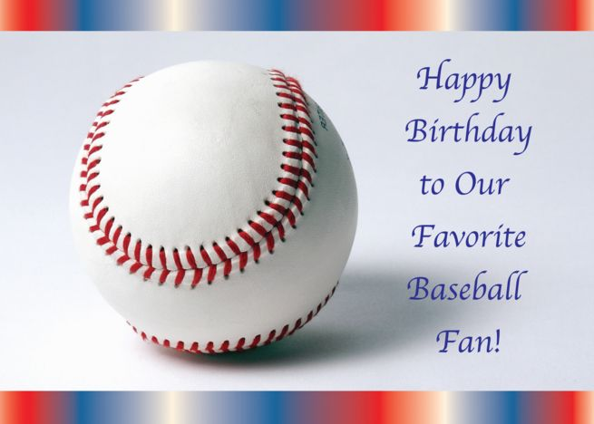 Birthdays To A Baseball Fan Card With Images Baseball Fan