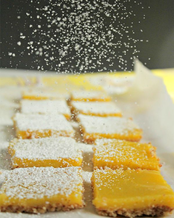 Almond-Crusted Lemon Bars (for an afterschool snack) from www.biggirlssmallkitchen.com