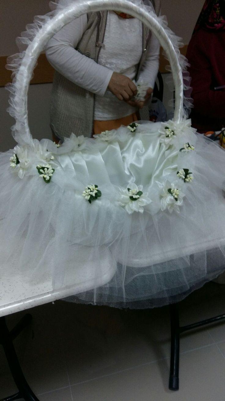 Sepet Süsleme / Basket Ornament ( Baby and Wedding Basket )