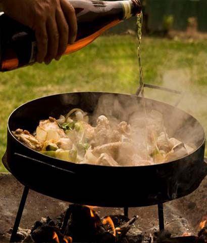 Pollo a la Cerveza en disco de arado