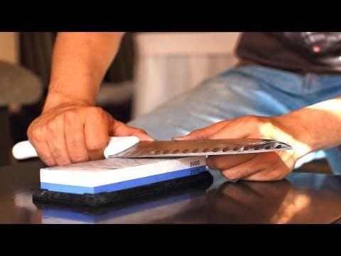 Como Afilar Un Cuchillo Con Piedra Youtube Como Afilar Cuchillos