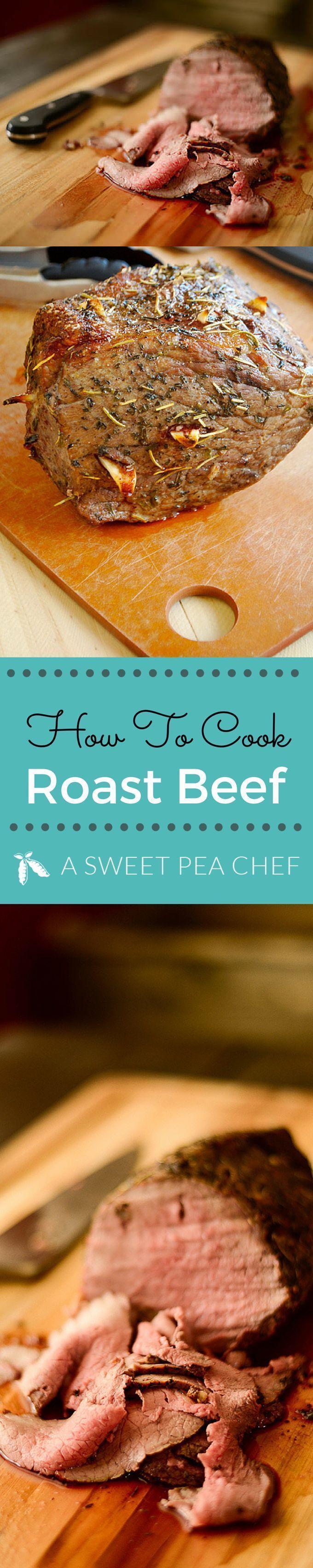 How to Cook Roast Beef #sunday #dinner #roastbeef #asweetpeachef Lacey Baier http://www.asweetpeachef.com