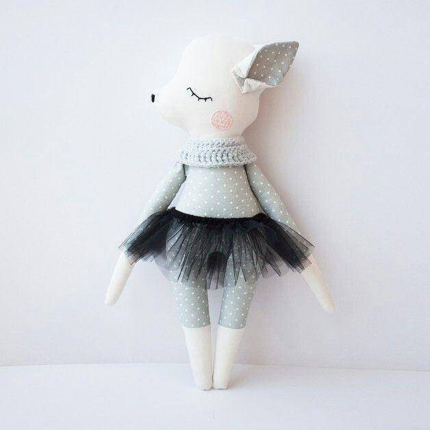 lamb cloth doll in tutu