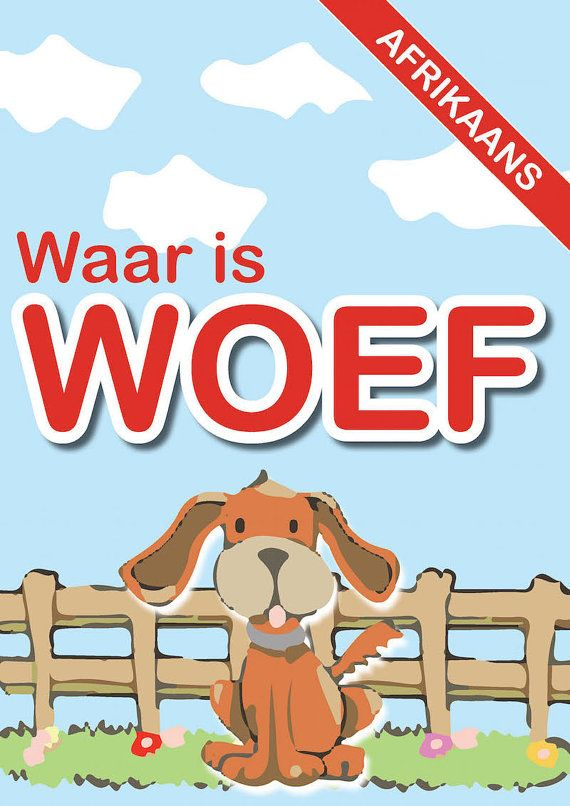kids eBook app  Waar is Woef Afrikaans Edition by meBooks on Etsy
