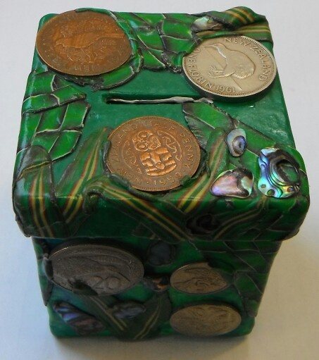 Polymer clay money box
