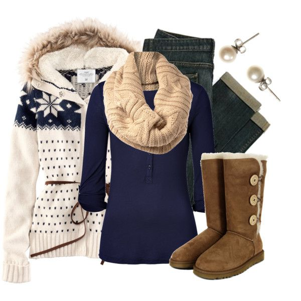 Winter Outfit - love! Looks so warm and cozy!