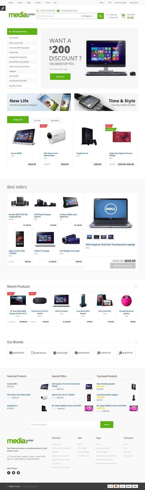 MediaCenter - Electronics Store WooCommerce Theme. Download: http://themeforest.net/item/mediacenter-electronics-store-woocommerce-theme/9177409?ref=skarin