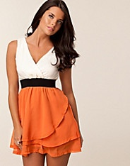 Two In One Day Dress - Ax Paris - Orange - Party dresses - Clothing - NELLY.COM Fashion on the net
