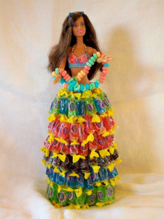 Cute Idea :)  Barbie Jolly Rancher Candy Bouquet by smithandstanley on Etsy, $35.00