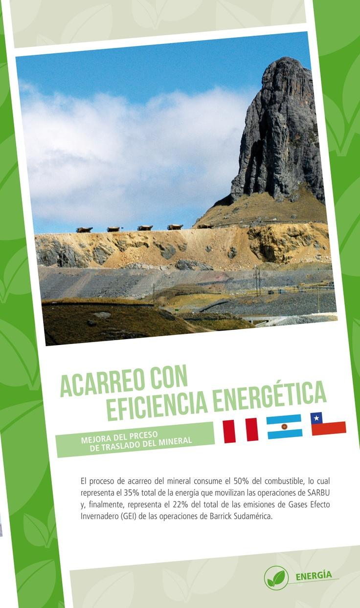 Acarreo con eficiencia energética - Infografía completa en el sitio de Barrick Sudamérica http://barricksudamerica.com