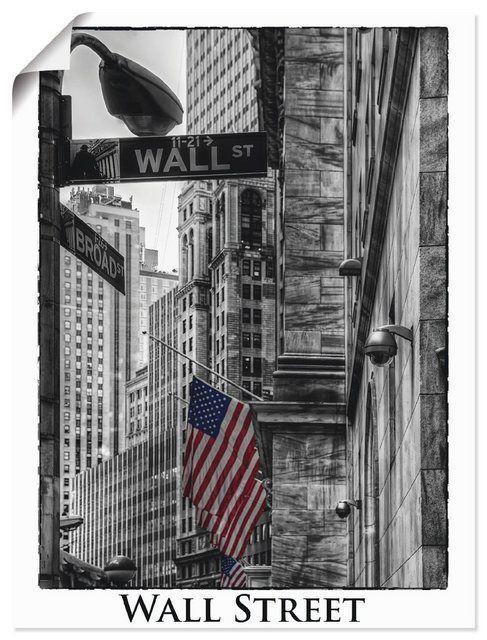 Artland Kunstdruck Poster Carina Buchspies New York Wall Street