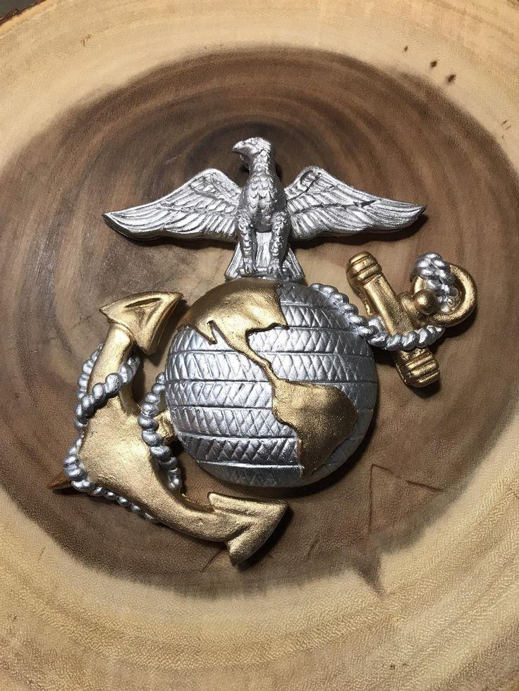 Fondant Marine Corps emblem cake topper Etsy in 2020