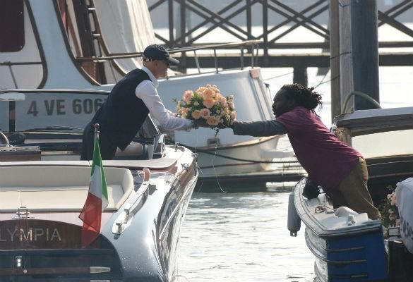 And The Bride Wore Pink? Wedding Flowers For Amal Alamuddin Arrive At Hotel Ahead Of George Clooney Wedding
