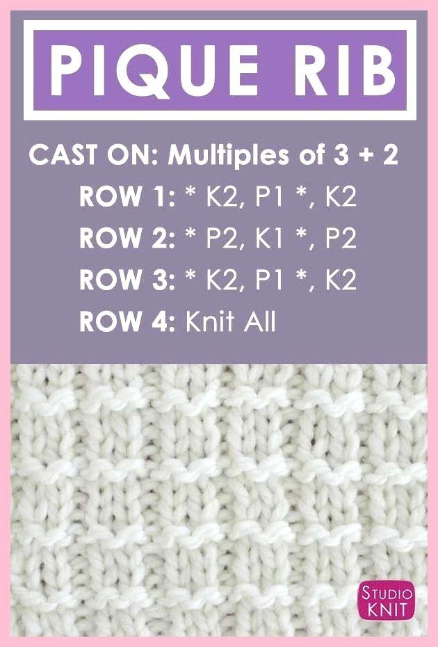 Wie Man Das Pique Rib Knit Stitch Pattern Von Strickt Pattern Pique Stitch Strickt Baby Stricken Stricken Stricken Anfanger
