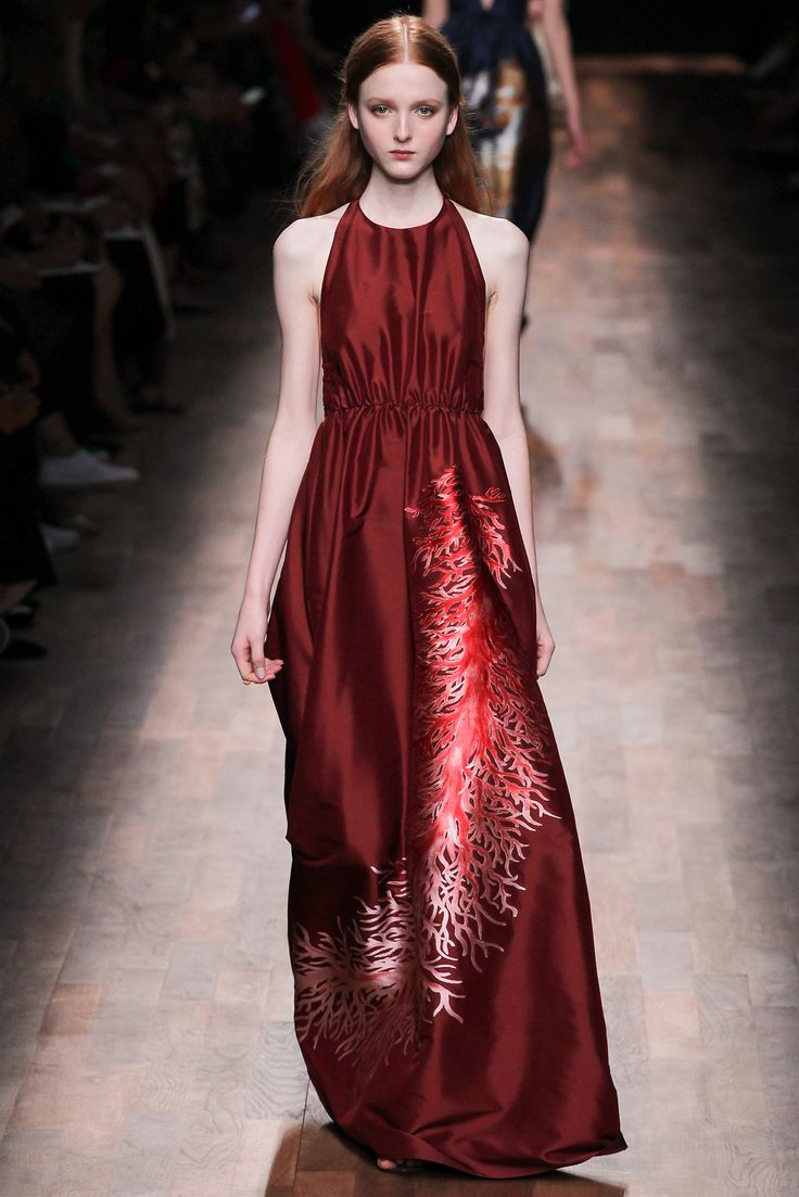 Valentino Spring 2015 Ready-to-Wear - Collection - Gallery - Style.com #Pantone #ColoroftheYear #Marsala