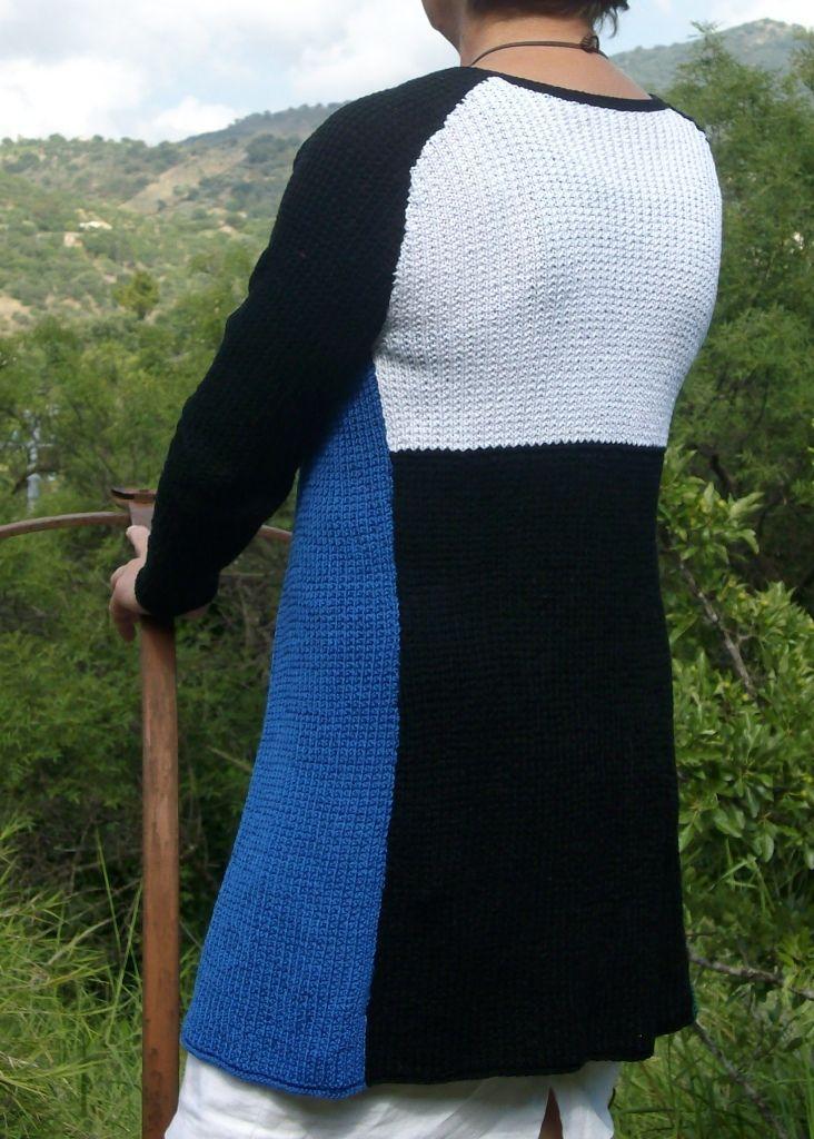 ARAGONA, handknitted cotton cardigan by domoras