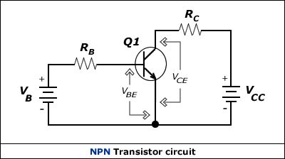 NPN Transistor circuit Electronic schematics, Electrical