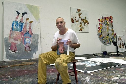 Georg Baselitz in Atelier
