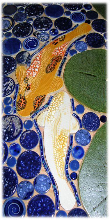 1000 images about koi mosaics on pinterest mosaics for Koi pool table